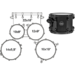 AR529SBTB DRUM SET MAPEX